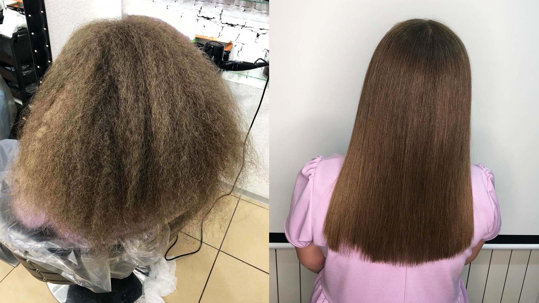 Juliana, antes e depois de usar a famosa Extreme Gold-Liso Prime. - Foto: Arquivo Pessoal.